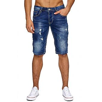 Men's Jeans Shorts torn shorts of men's shorts ripped frayed Stonewashed