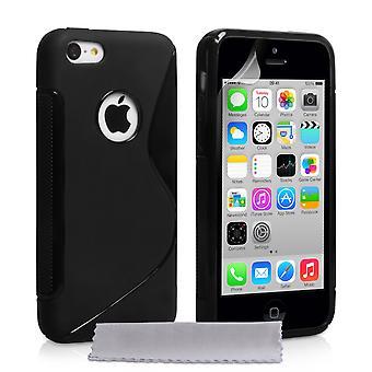Caseflex Iphone 5c Gel S-Line silikonfodral - svart