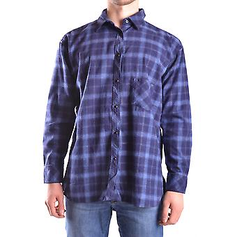 Meltin'pot men's MCBI340060O Blau cotton shirt