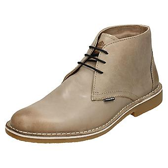 Mens Lambretta Ankle Boots Canary LG 14131 - Iceland Taupe Leather - UK Size 9 - EU Size 43 - US Size 10