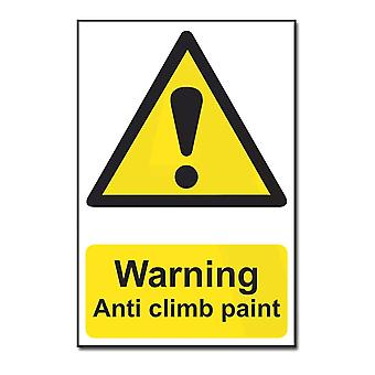 ASEC Highly Visible `Warning: Anti Climb Paint` Sign 200mm X 300mm