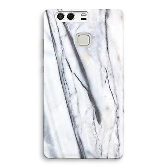 Huawei P9 Full Print Case - Striped marble