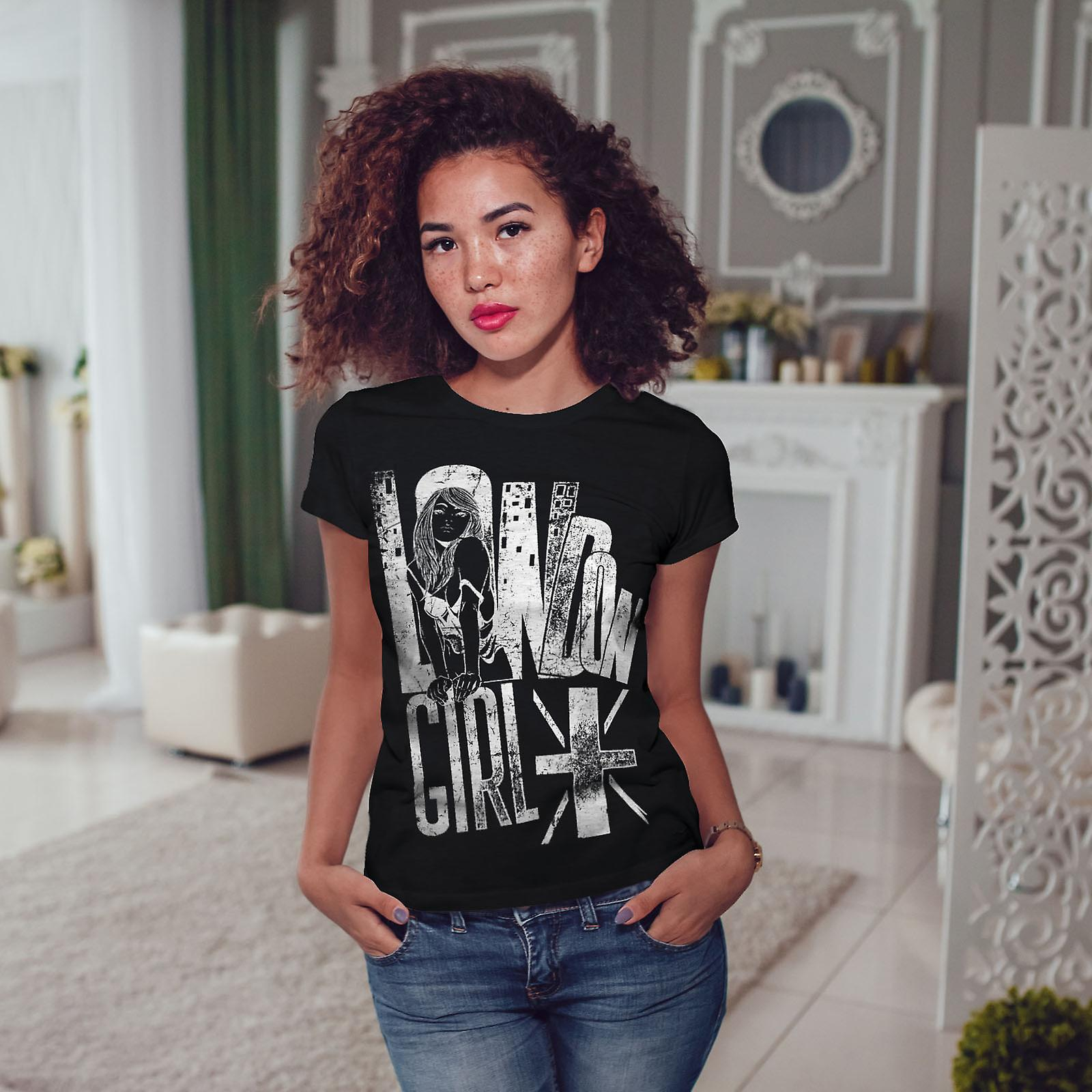 Girl Slogan Flag Women BlackT-shirt | Wellcoda