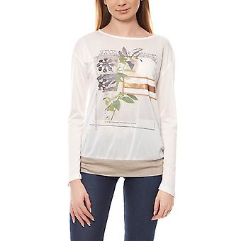 B.C.. best connections ladies print T-shirt round neck white