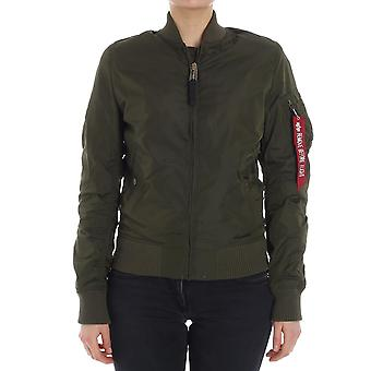 Alpha industries ladies 141041MA1257 green polyester jacket