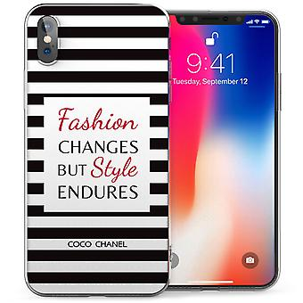 iPhone X Chanel Fabulous Quote TPU Gel Case - Black