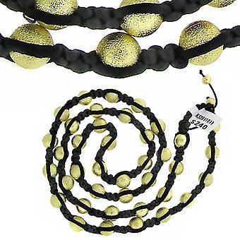 Premium PAVÉ BALL necklace - black / gold