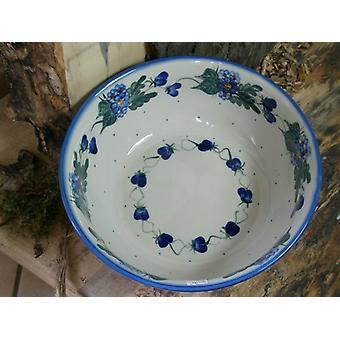 Bol à salade, ø 23 cm, hauteur 9 cm, 48 - Unikat polonais poterie - BSN 1490