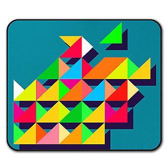 Geometric Shape  Non-Slip Mouse Mat Pad 24cm x 20cm | Wellcoda
