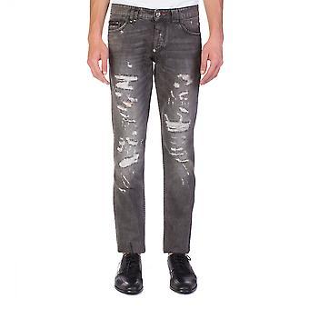 Pantalones de mezclilla de corte recto