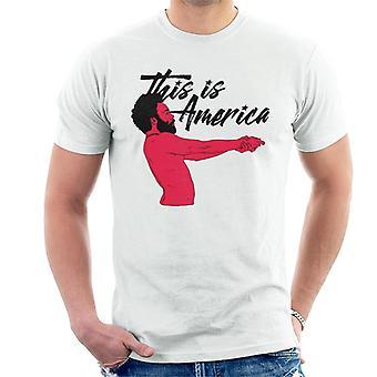 Childish Gambino This is America Black Text Men's T-Shirt