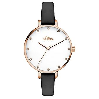 s.Oliver women's watch wristwatch leather SO-3456-LQ