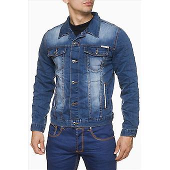 Mænds jeans jakke Jeans Vintage denim jakke overgang anvendes look urban stil