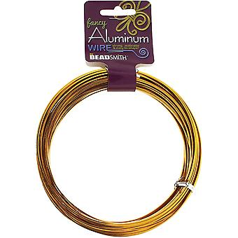 Aluminum Wire Flat Smooth 1X3mm 12 Meters/Pkg (39.25')-Gold