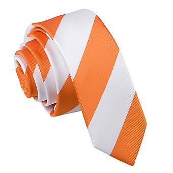 Oranje & wit gestreepte mager gelijkspel