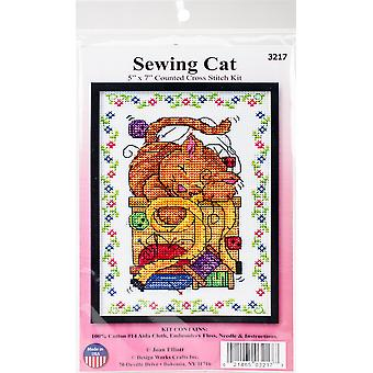 Sewing Cat Counted Cross Stitch Kit-5