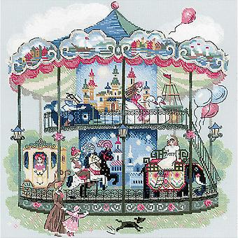 Carousel Counted Cross Stitch Kit-13.75