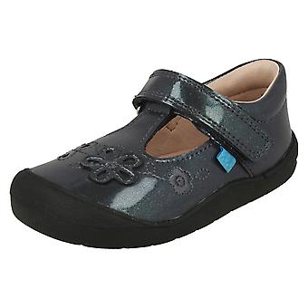 Girls Startrite Flower Detail Flat Shoes First Mia