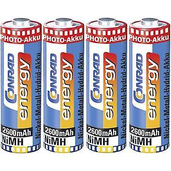 Conrad energy HR06 AA battery (rechargeable) NiMH 2600 mAh 1.2 V 4 pc(s)