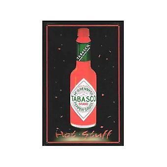 Tabasco Sauce Bottle Embossed Metal Sign