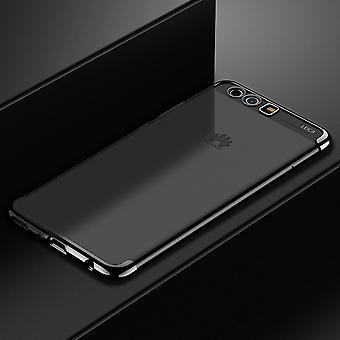 Handy Hülle Schutz Case für Huawei P20 Lite Durchsichtig Transparent Schwarz