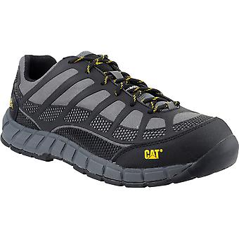 Caterpillar Mens Streamline S1P PU Upper Rubber Sole Work Safety Trainers Grey