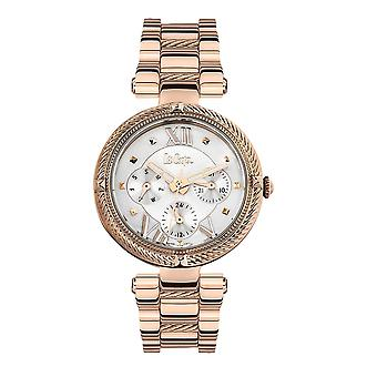 Shows woman Lee Cooper and Bracelet silver and rose gold metal