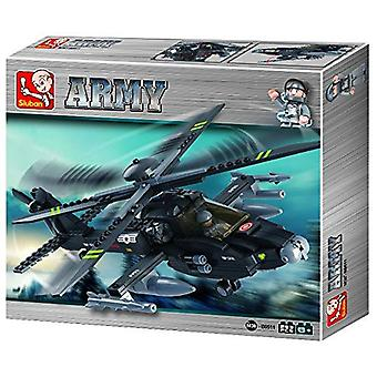 Kombat Military Bricks Apache Helicopter