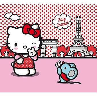 Hello Kitty pair of curtains for the bedroom tray 180x160 centimeter cm