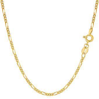 14 k geel gouden klassieke Figaro ketting armband, 1.9 mm, 7