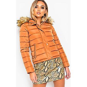 IKRUSH Womens Camile Padded Hooded Jacket