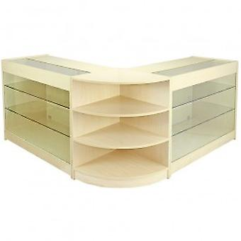 Pulsar Maple Shop Counter & Retail Display Set