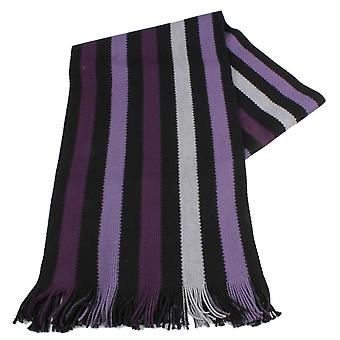 Bassin and Brown Hornby Stripe Scarf - Purple/Black