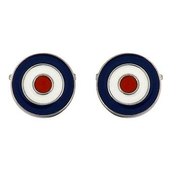 David Van Hagen RAF Manschettenknöpfe - blau/weiss/rot