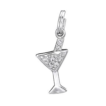 Bicchiere da cocktail - 925 Sterling Silver Charms con Split ring - W29286X