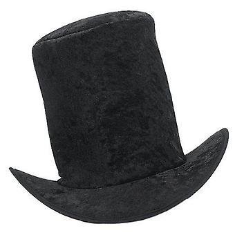 Bnov hoge hoed fluweel zwart