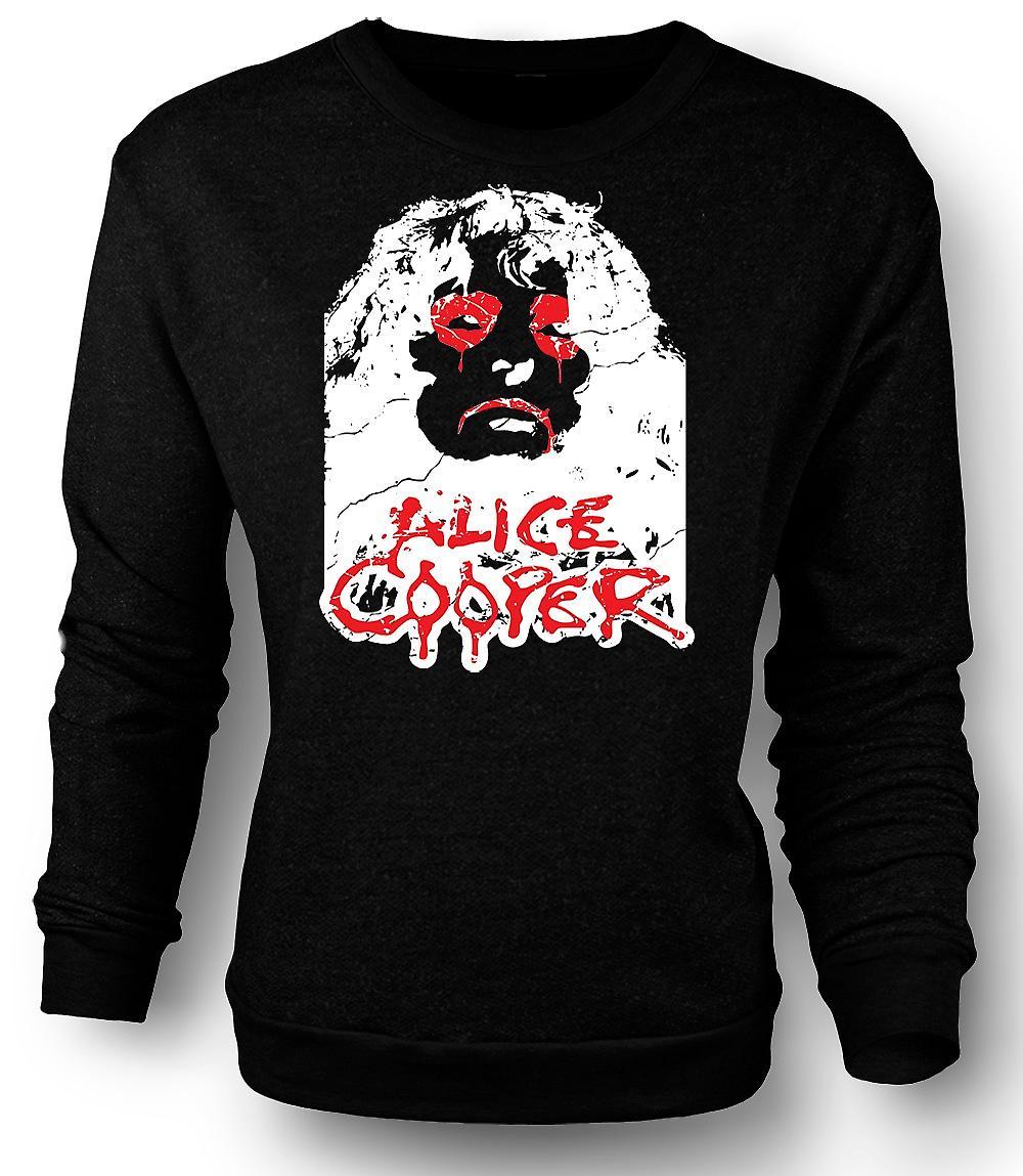 Mens Sweatshirt Alice Cooper ogen