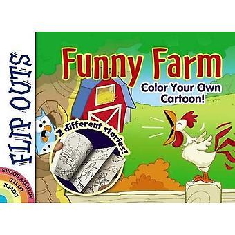 FLIP OUTS--Funny Farm: färg din egen tecknad!