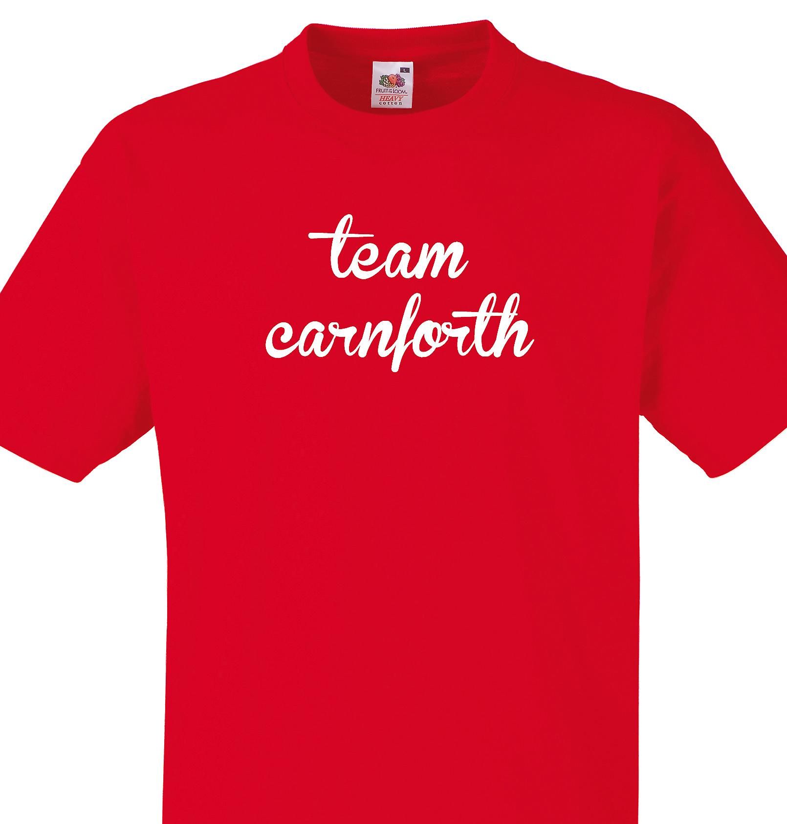 Team Carnforth Red T shirt