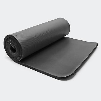Tapis de yoga sol fitness aérobic pilates gymnastique épais antidérapant noir 180 x 60 x 1 5 cm 0716007