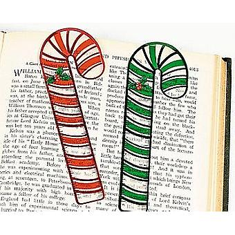 12 Candy Cane Vinyl Ruler Bookmarks Kids Christmas Party Bag Fillers