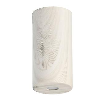 Glasberg - LED semi infälld tak ljus 20 cm vit trä 712010901