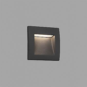 Faro - Sedna-1 Dark Grey Outdoor LED Recessed Wall Light FARO70146