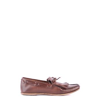 Car Shoe Brown Leather Loafers