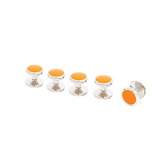 Dobell Mens Orange Stud Set for Dress Shirt
