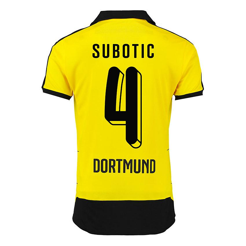 2015-16 Borussia Dortmund Home Shirt (Subotic 4) - Kids