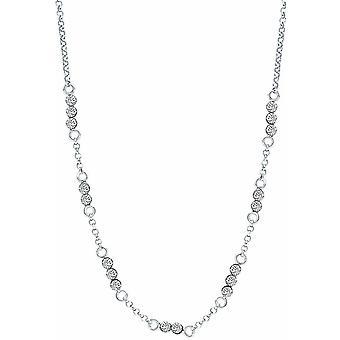 Bella Cubic Zirconia Chain Necklace - Silver