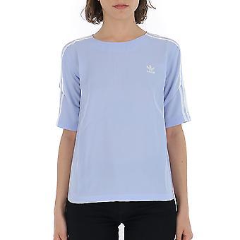 Adidas Light Blue Cotton T-shirt