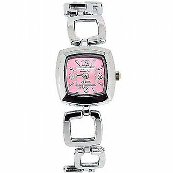 Die Olivia Collection Damen Square Rosa Zifferblatt Armband Strap Dress Watch COS20