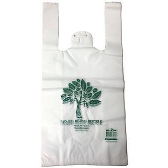 Recycelbare Plastik-Shopping-Taschen Singlet Eco freundliche Lebensmitteltasche